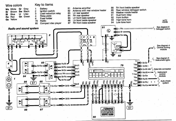 B5 Audi Radio And Sound System Wiring Diagram