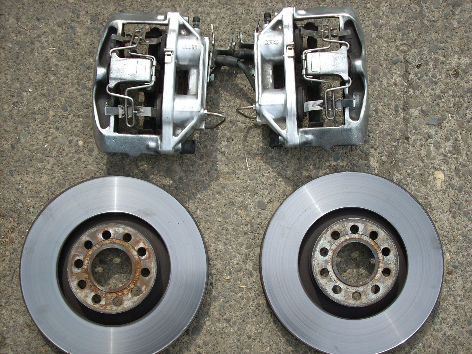Stock B5 S4 Brake Calipers And Rotors Fs