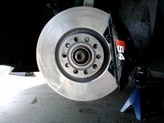 B5 S4 Brakes Installed