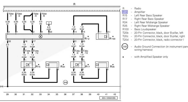 audi sound system, Wiring diagram