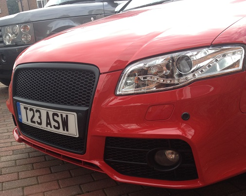 B7 A4 Grille Replaced - Audi Rings and holder required!