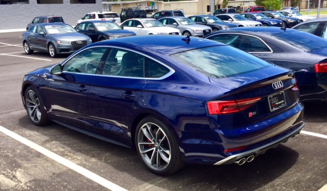 S5 Sportback In Navarra Blue