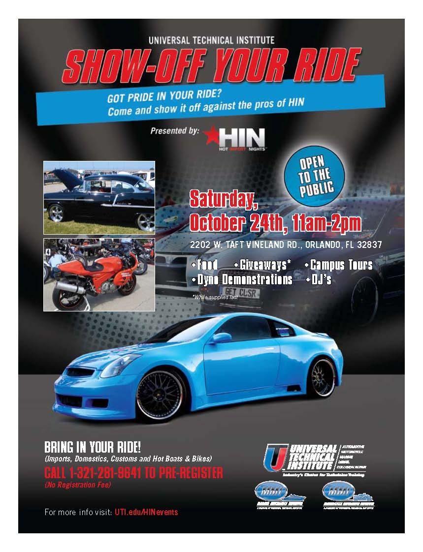 FREE Car Show At UTI Campus Orlando - Car show orlando fl