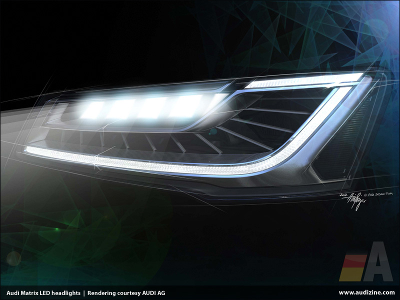 Leading the way in lighting technology The new Audi Matrix LED headlights & Press Release: Leading the way in lighting technology: The new Audi ...