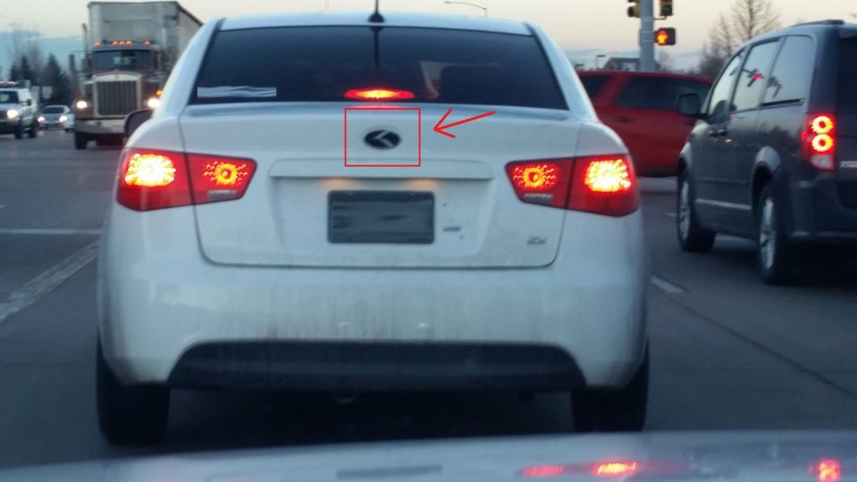 Kia Badge Made To Look Like Lexus