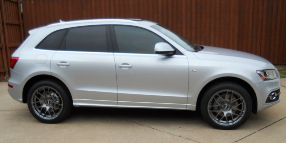 Grey Audi Q5 Black Rims