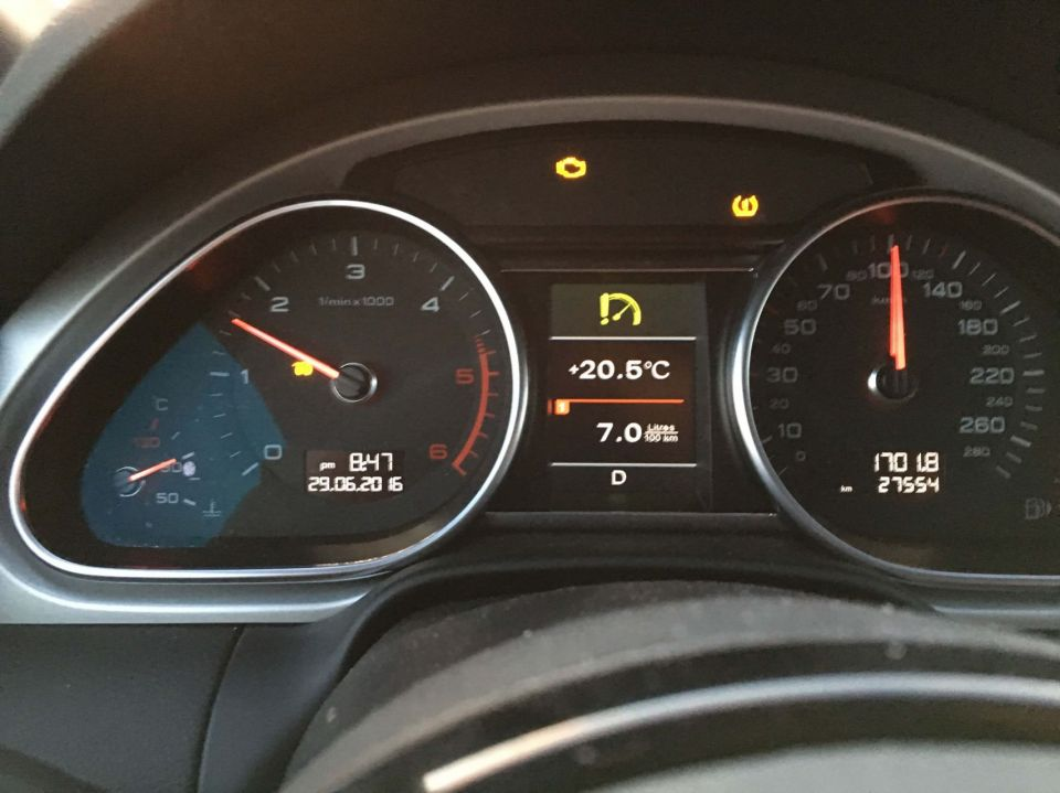 Q7 2014 TDI glowplug light on and wont accelerate over 100km/h
