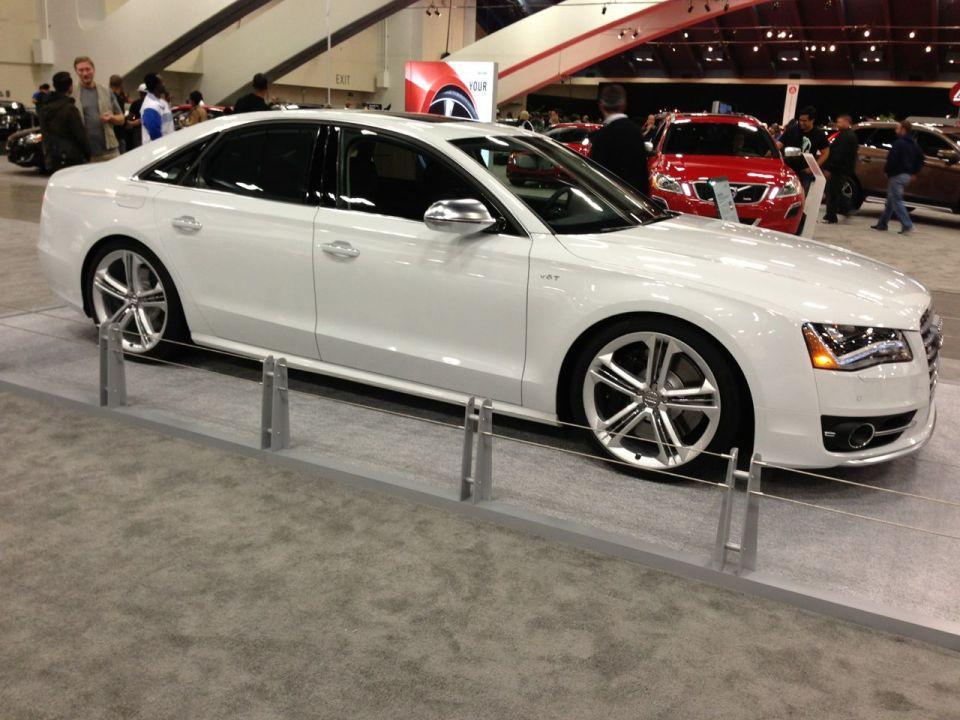 2013 audi s8 at sf auto show looks lowered. Black Bedroom Furniture Sets. Home Design Ideas