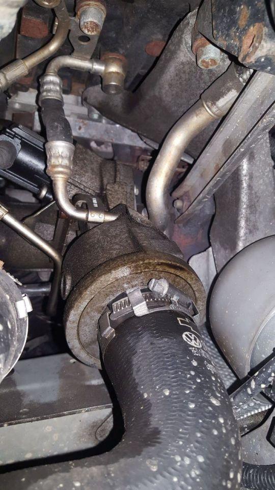 Oil Leak below turbo