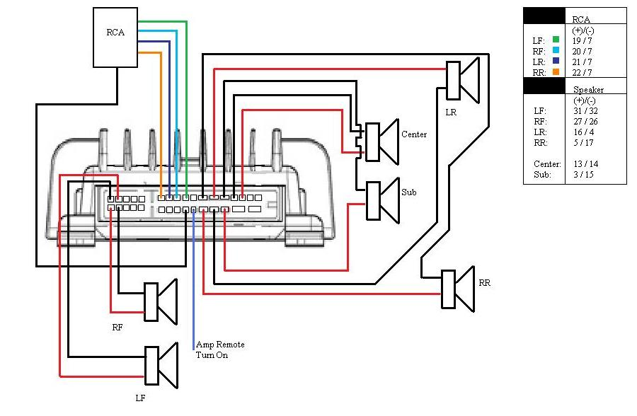 wiring audi bose amp wiring diagram audi wiring diagrams instruction Audi Wiring Diagram 1999 at gsmx.co