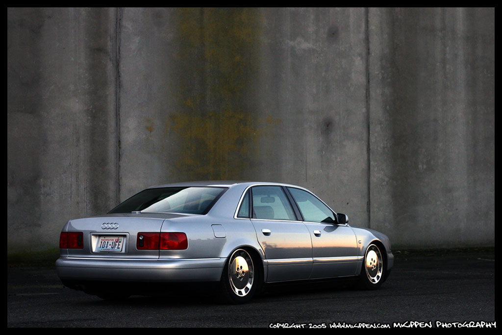 """Cross Drilled Rotors >> 2001 Audi A8L Air Ride Suspension Car PC 19"""" Work Equipped ..."""