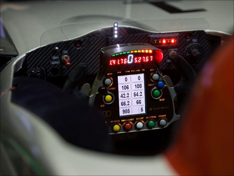 Cockpit of the Audi R15 TDI - 1600x1200