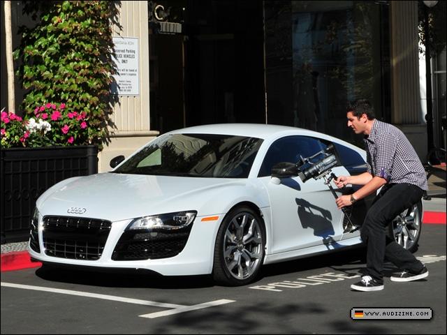 Sean With The Audi R8 V10 Coupe   Tony Marino