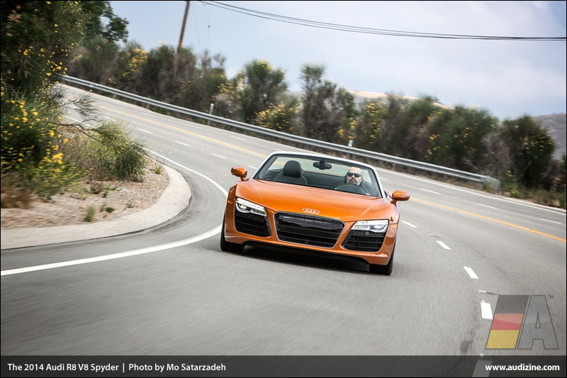 The 2014 Audi R8 V8 Spyder - Photo by Mo Satarzadeh