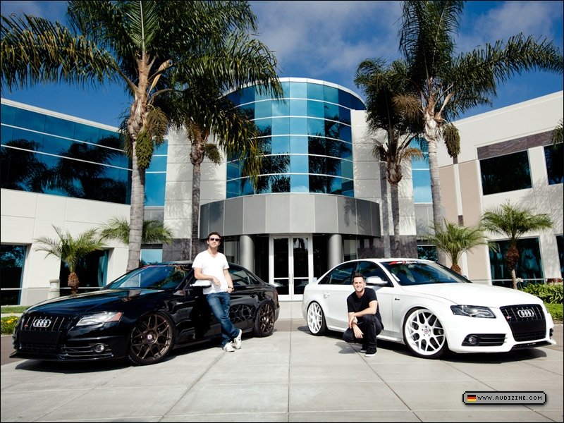 A4rce1&#039;s (white) and RE5PECT&#039;s (black) 2011 S4s - by Mo Satarzadeh