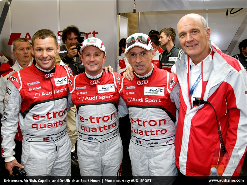 Audi 1-2-3-4 victory at Spa on premiere - AUDI SPORT