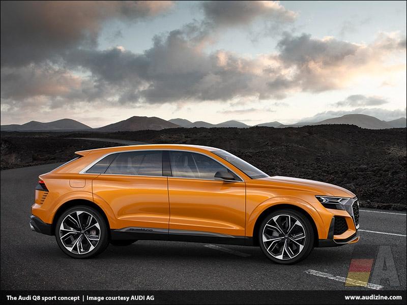 The Audi Q8 sport concept, Krypton Orange - AUDI AG