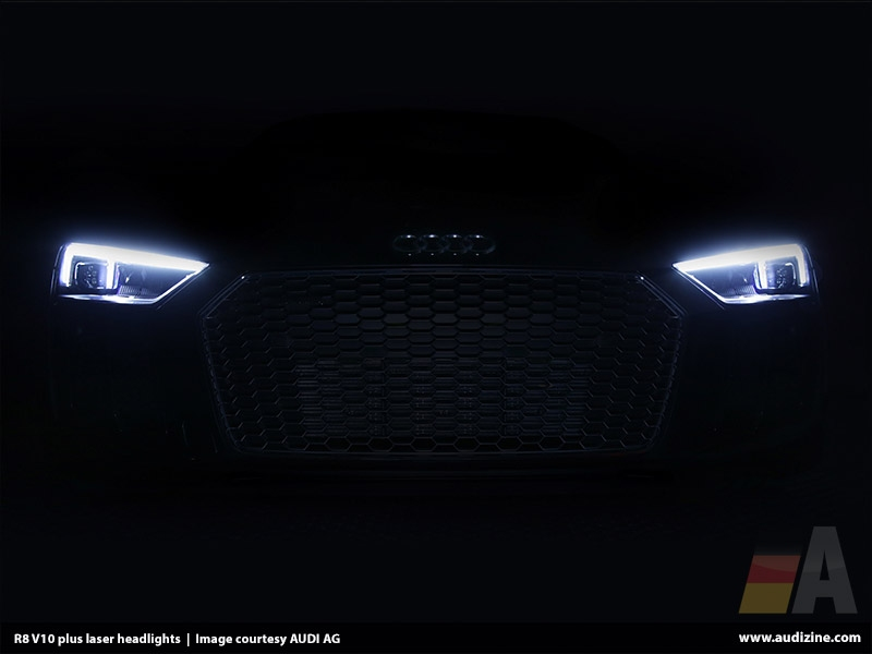 R8 V10 plus laser headlights - AUDI AG
