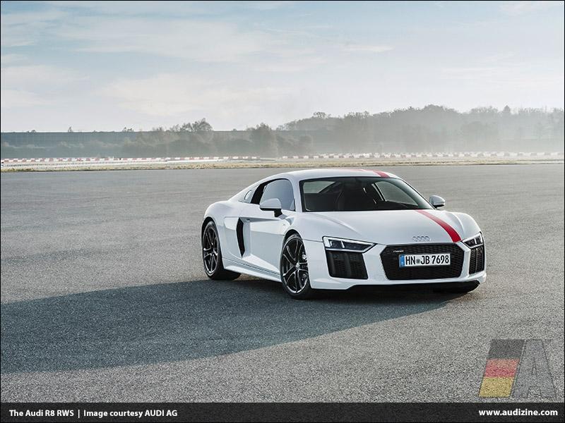The Audi R8 RWS, Ibis White - AUDI AG