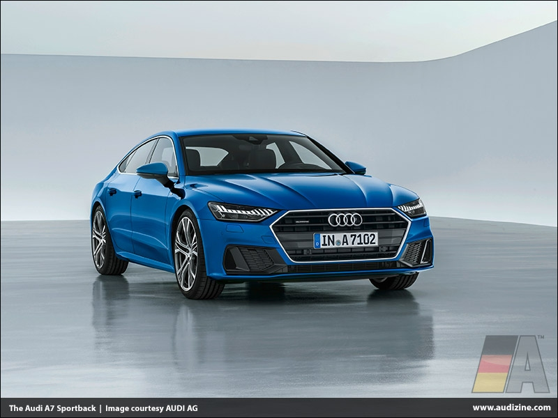 The Audi A7 Sportback, Ara Blue - AUDI AG