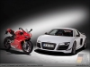 Ducati 1199 Panigale S and Audi R8 GT - by AUDI AG