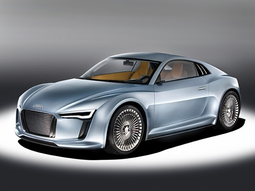 The Detroit showcar Audi e-tron shows another variant of an electric vehicle