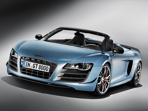 Aggressive power and Audi ultra - the Audi R8 GT Spyder