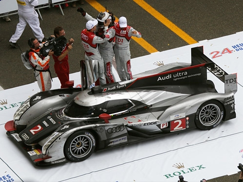 Audi wins with ultra-lightweight technology at Le Mans