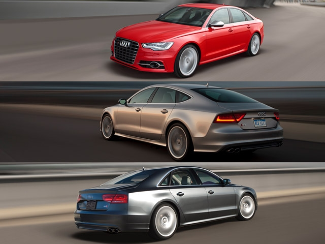 North American debut of the S6, S7, and S8 at the 2011 LA Auto Show