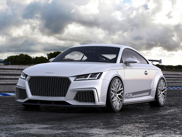 The Audi TT quattro sport concept show car