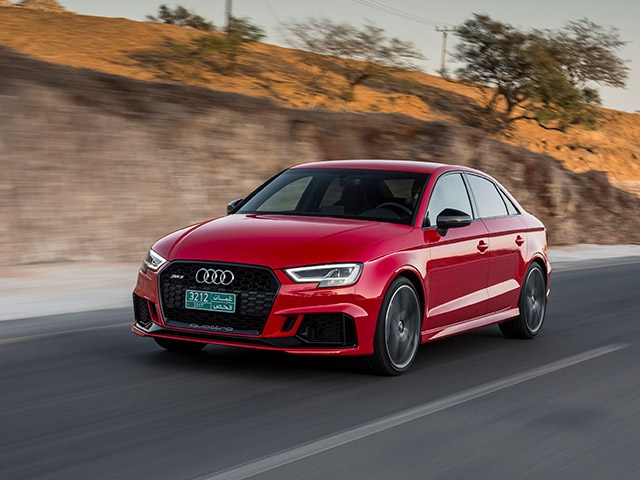 Available for first time in US, 2018 RS 3 sedan makes debut in New York