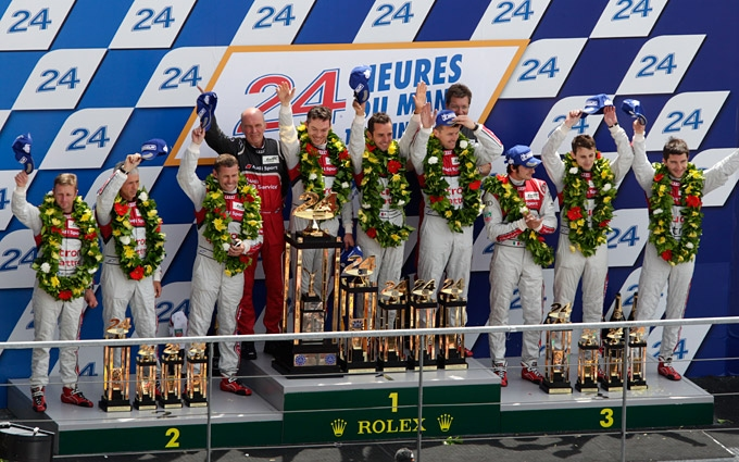 Historic triumph: Audi achieves first victory of a hybrid vehicle at Le Mans