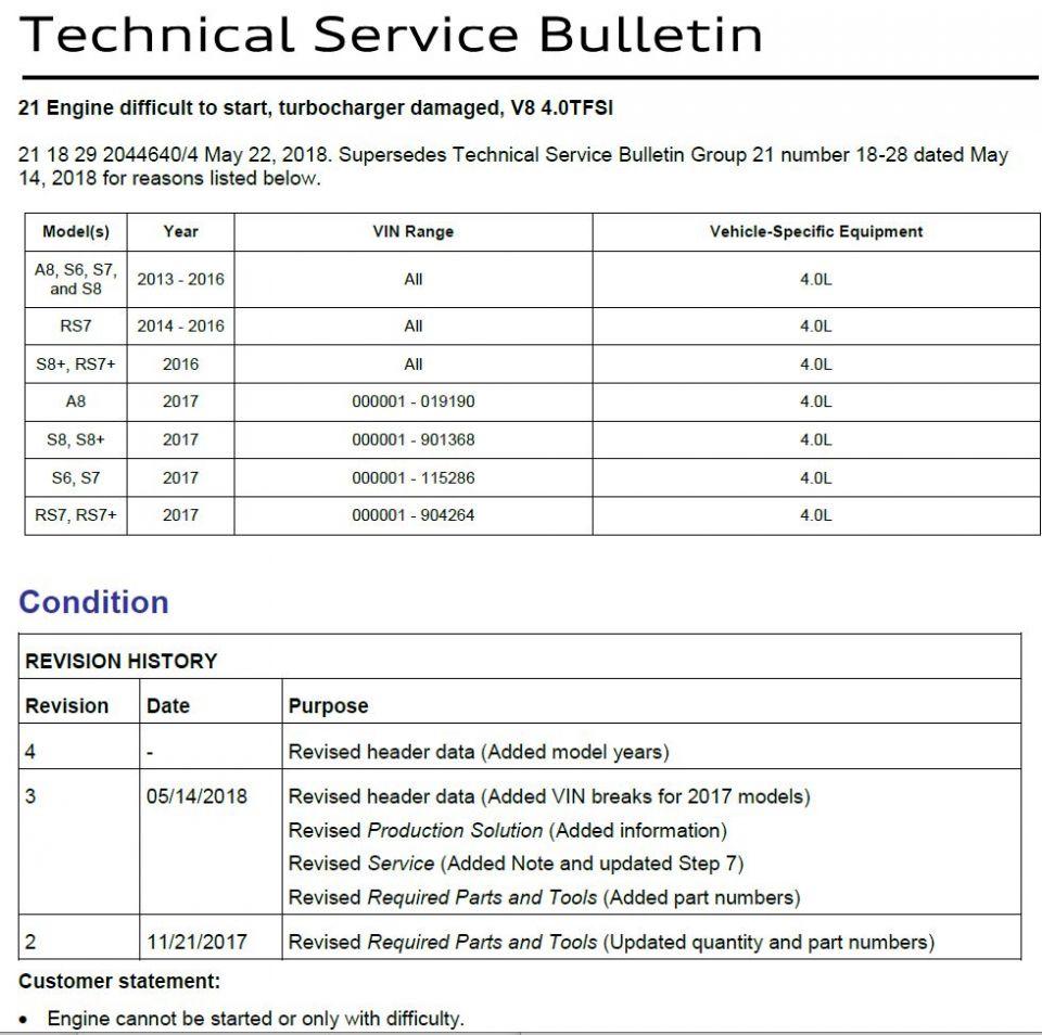 TSB 4p0T Turbo, rev 4