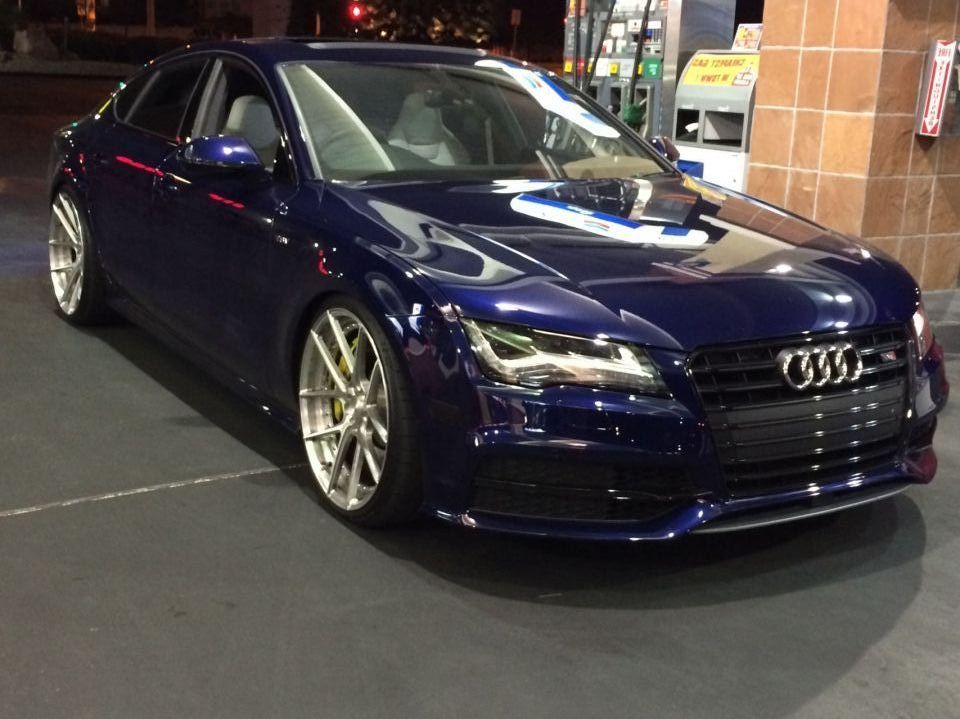 "Audi s7 on 21"" adv1 wheels"