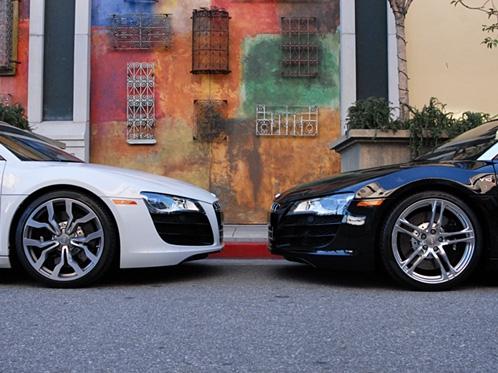 The Audi R8 V10 Coupe Versus Spyder
