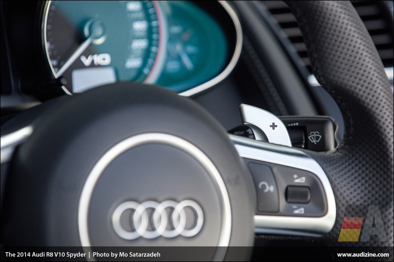 The 2014 Audi R8 V10 Spyder - Photo by Mo Satarzadeh