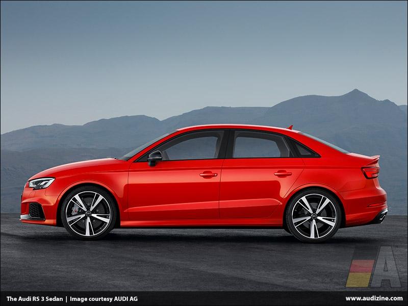The Audi RS 3 Sedan, Catalunya Red - AUDI AG