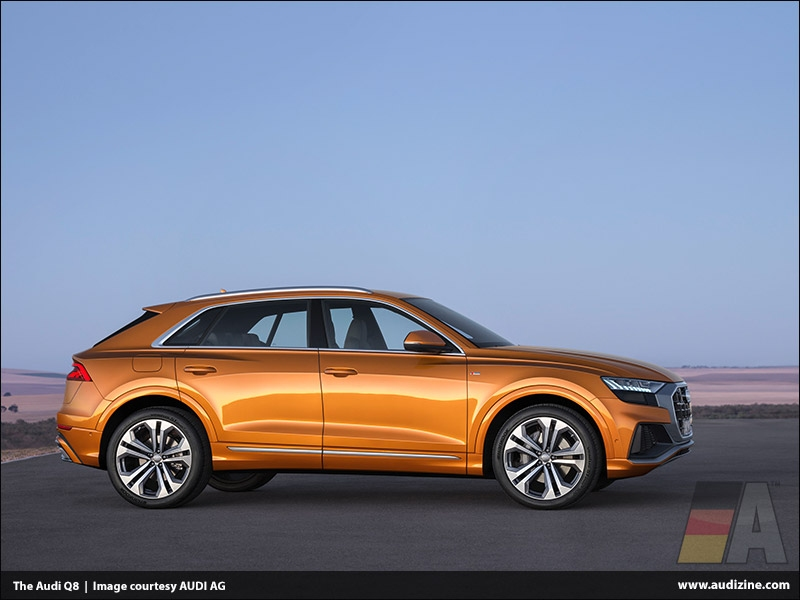 The Audi Q8, Dragon Orange - AUDI AG