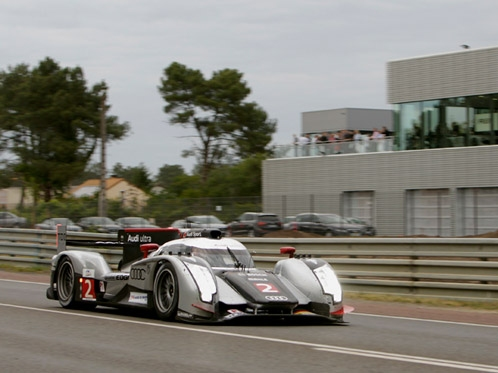 With Audi ultra on pole at Le Mans